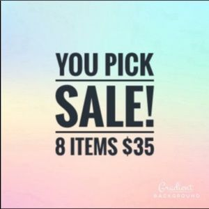 Pick 8 items in my closet $35